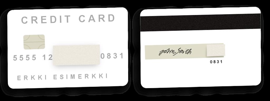 Credit card copies - CasinoApu