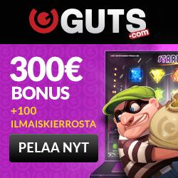 Guts casino ilmaiskierroksia