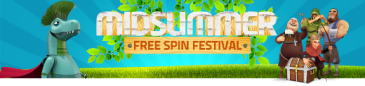 LuckyDino and free spins! Midsummer 2015