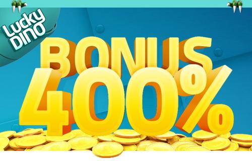 400 talletusbonus, lucky Dino