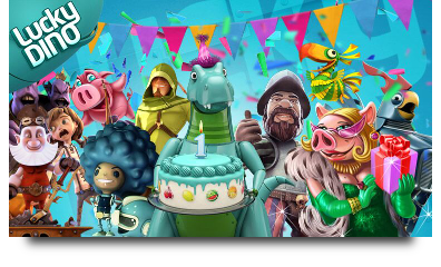 Free spins at LuckyDino! 1 year birthday party