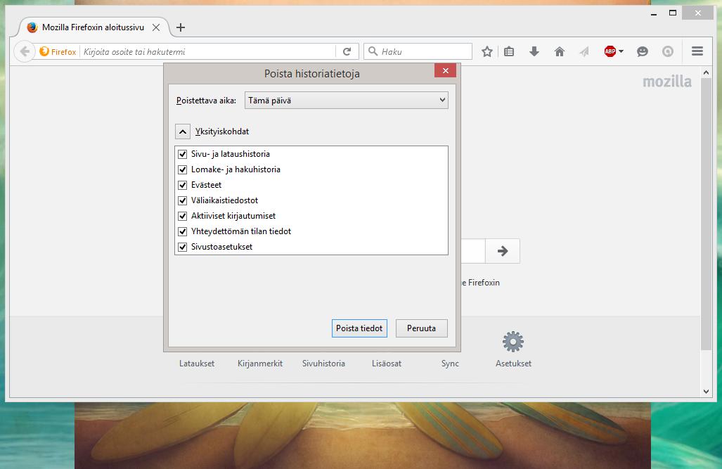 Evästeiden Poisto Firefox
